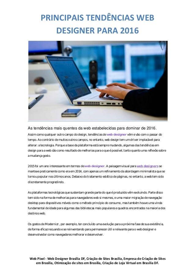 Web Pixel - Web Designer Brasília DF, Criação de Sites Brasília, Empresa de Criação de Sites em Brasília, Otimização de si...