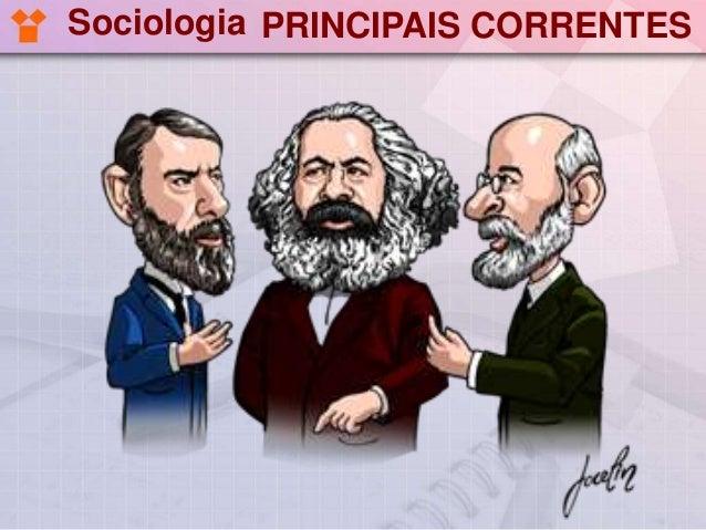 Sociologia PRINCIPAIS CORRENTES