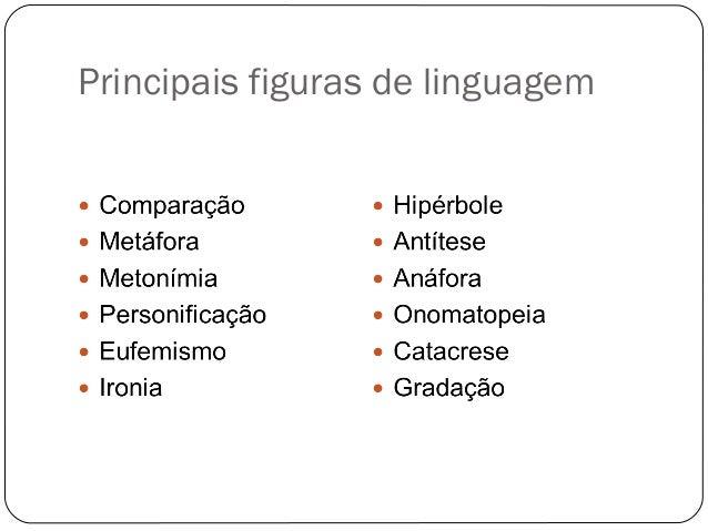 Principais figuras de linguagem