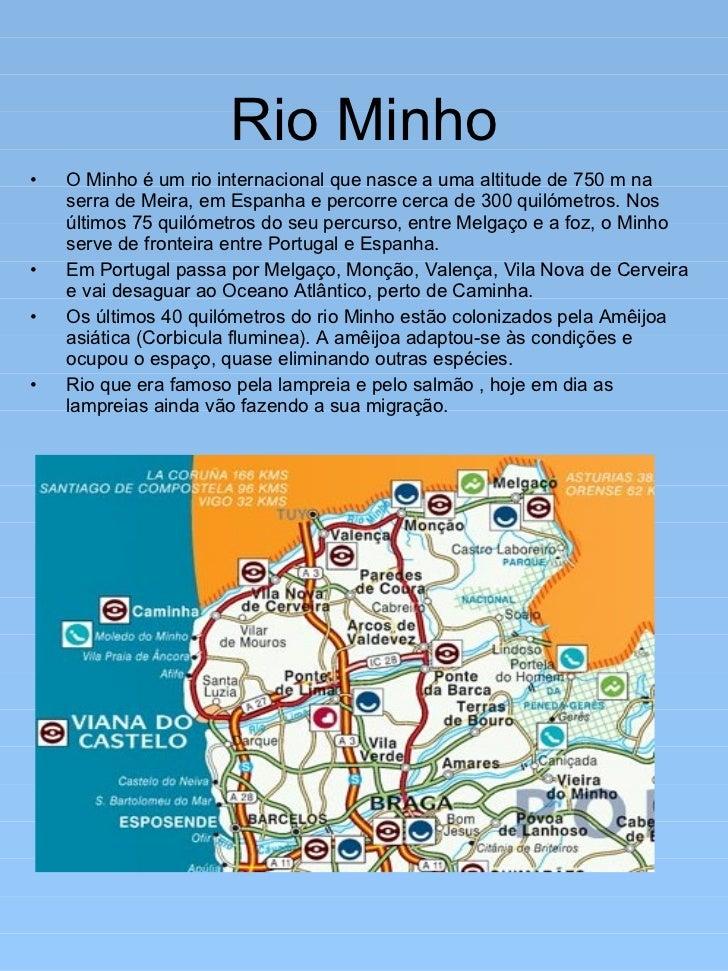 mapa do rio minho Principais rios de portugal continental mapa do rio minho
