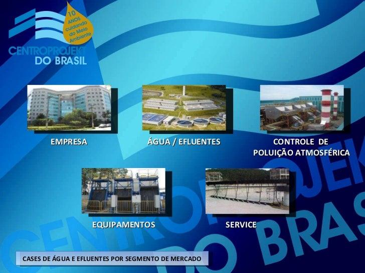 EMPRESA ÁGUA / EFLUENTES CONTROLE  DE  POLUIÇÃO ATMOSFÉRICA EQUIPAMENTOS SERVICE CASES DE ÁGUA E EFLUENTES POR SEGMENTO DE...