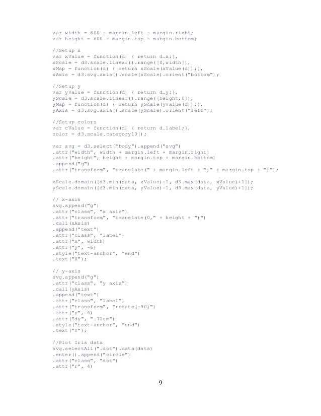 var width = 600 - margin.left - margin.right; var height = 600 - margin.top - margin.bottom; //Setup x var xValue = functi...