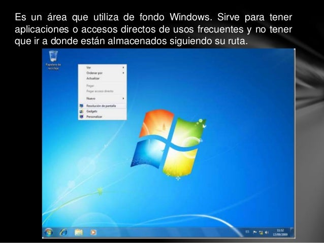 Principales caracter sticas de windows for Escritorio ergonomico caracteristicas