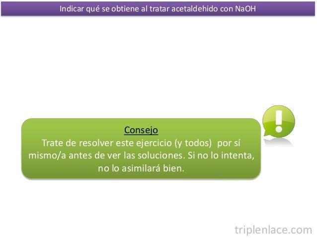 Ejercicios de qu mica org nica b sica 5 aldeh dos - Problemas de condensacion ...