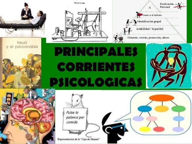 PRINCIPALES  CORRIENTES  PSICOLOGICAS