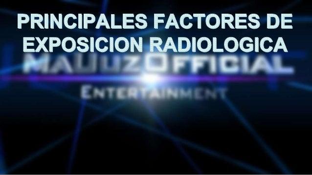 PRINCIPALEÉJÉACTORES DE  EXPOSICIO OLOGICA U   (u - Y ' i'