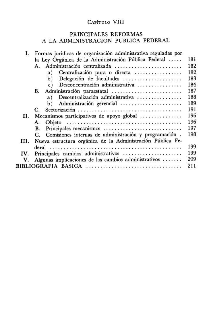 Principales reformas de la admon publica federal