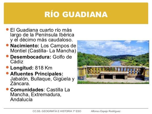 RÍO GUADIANA El Guadiana cuarto río más largo de la Península Ibérica y el décimo más caudaloso. Nacimiento: Los Campos ...