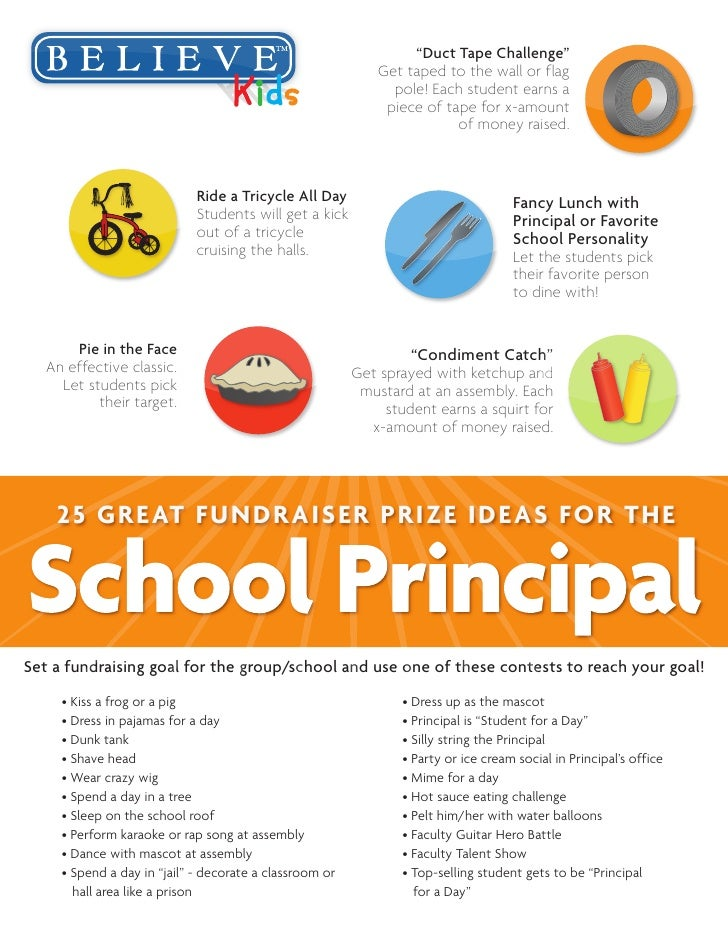 25 school principal contest fundraising incentives