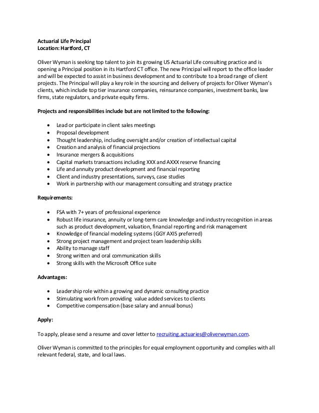Principal Job Description Hartford