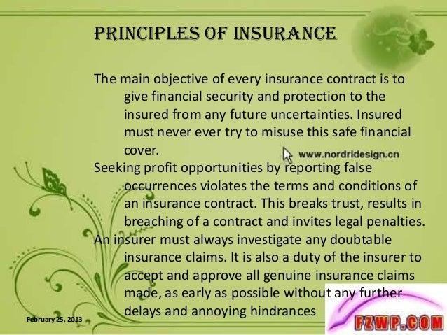 Principals of insurance