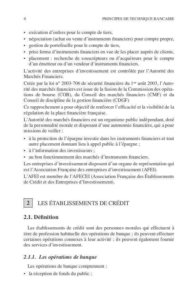 Introduction 5 ©Dunod–Laphotocopienonautoriséeestundélit. • les opérations de crédit telles que la mise à disposition de f...