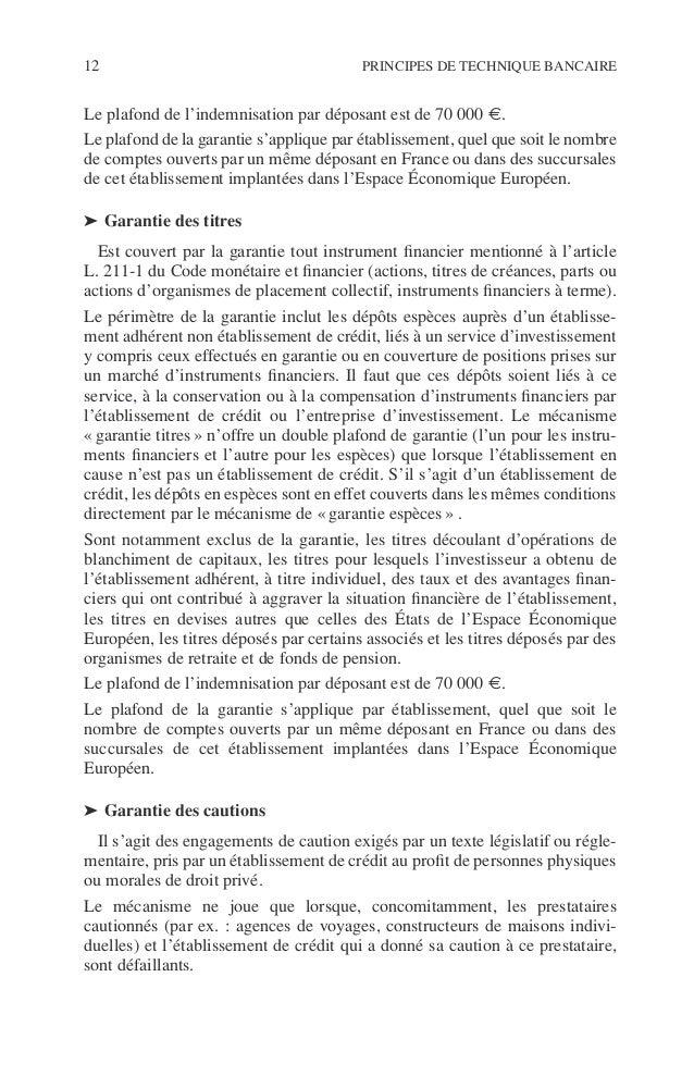 Introduction 13 ©Dunod–Laphotocopienonautoriséeestundélit. Les principaux engagements de cautions exclus de la garantie so...