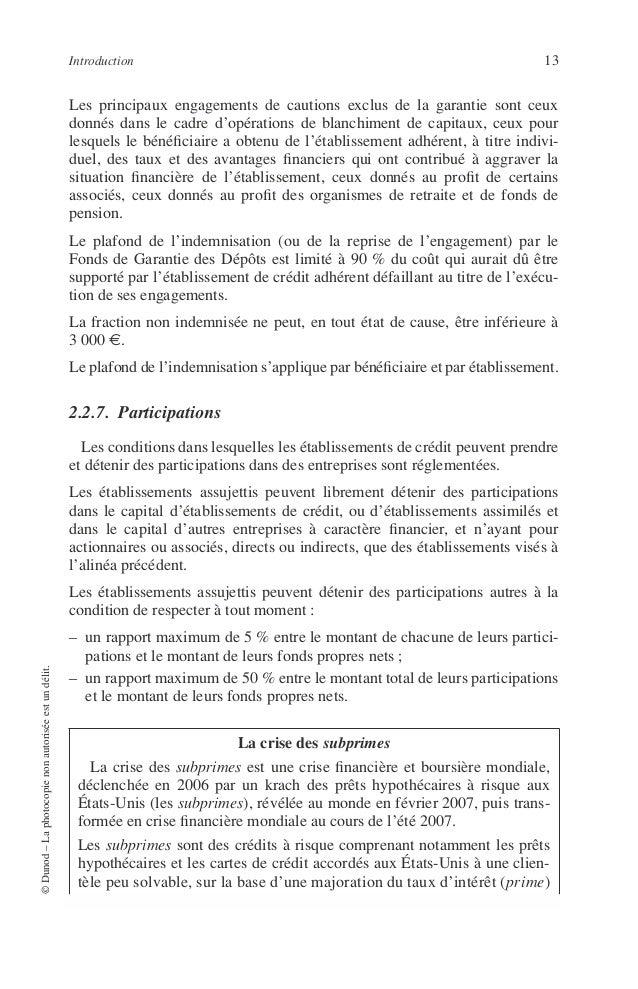 14 PRINCIPES DE TECHNIQUE BANCAIRE 2.3. Catégories Les Établissements de Crédit peuvent exister sous les formes suivantes ...