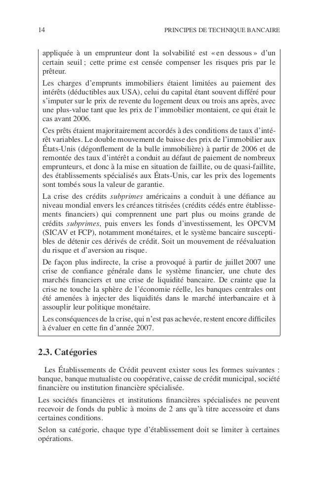 Introduction 15 ©Dunod–Laphotocopienonautoriséeestundélit. 2.3.1. Les banques Ces établissements peuvent effectuer toutes ...