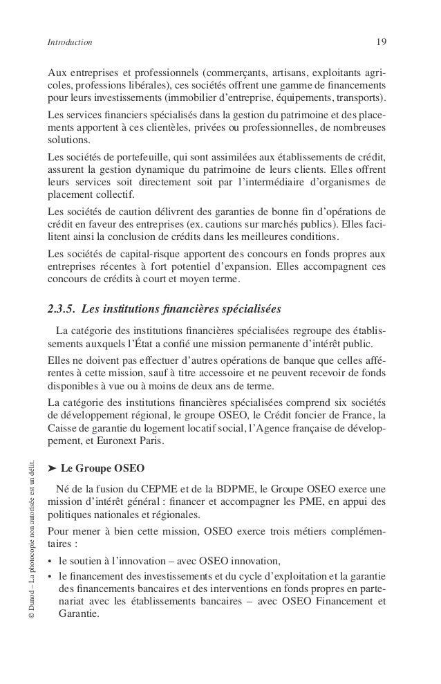 20 PRINCIPES DE TECHNIQUE BANCAIRE ◆ OSEO Innovation OSEO innovation a pour objet de promouvoir et de soutenir le développ...