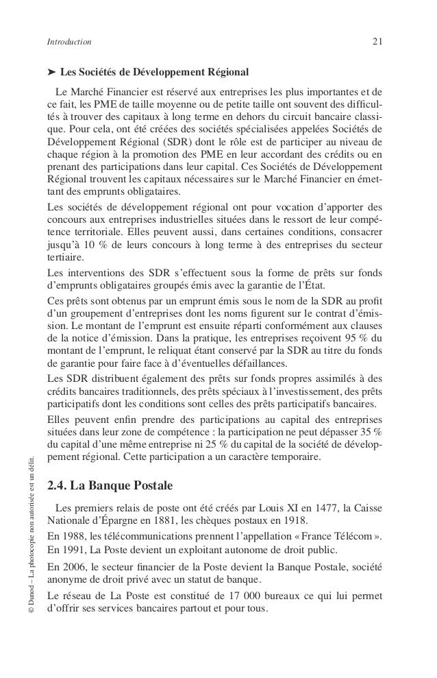 22 PRINCIPES DE TECHNIQUE BANCAIRE L'offre de la Banque Postale couvre un champ très large qui comprend : – les comptes ch...