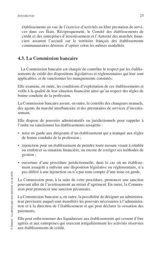 26 PRINCIPES DE TECHNIQUE BANCAIRE 4.4. Le Conseil national du crédit et du titre Le Conseil national du crédit et du titr...