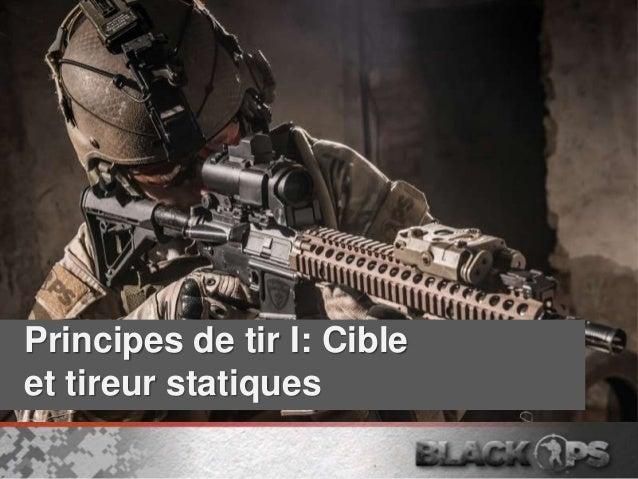 Principes de tir I: Cible et tireur statiques