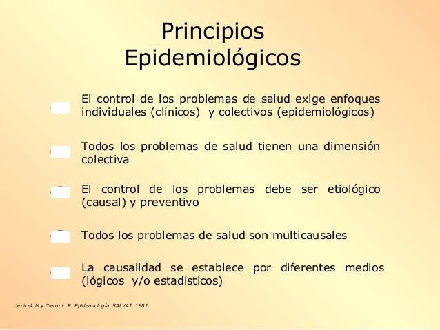 El control de los problemas de salud exige enfoques individuales (clínicos) y colectivos (epidemiológicos) Todos los probl...