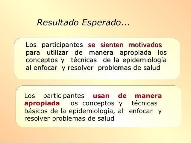 Resultado Esperado... Los participantesLos participantes se sienten motivadosse sienten motivados para utilizar de manera ...
