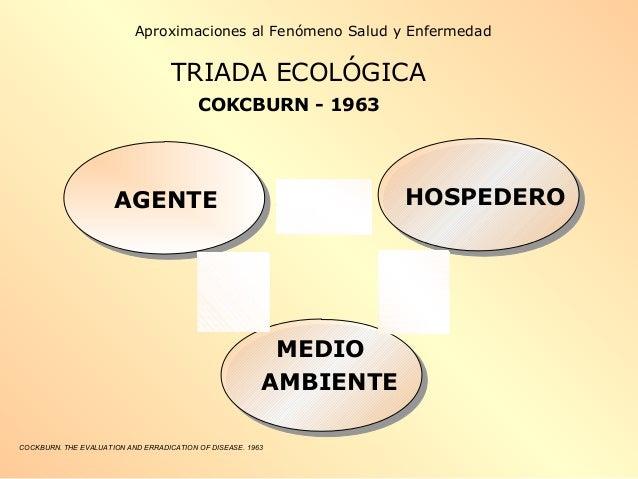 COCKBURN. THE EVALUATION AND ERRADICATION OF DISEASE. 1963 AGENTE HOSPEDERO MEDIO AMBIENTE Aproximaciones al Fenómeno Salu...