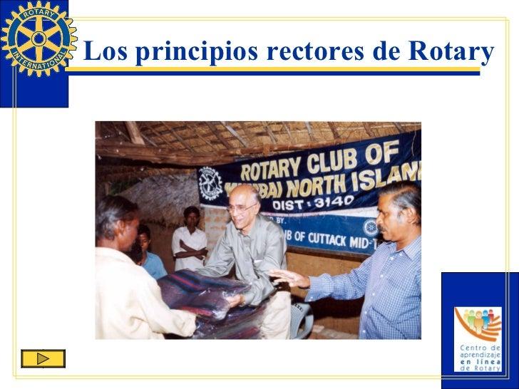 Los principios rectores de Rotary