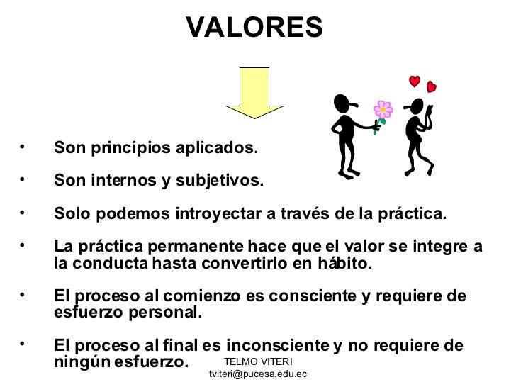 Principios Valores Y Virtudes