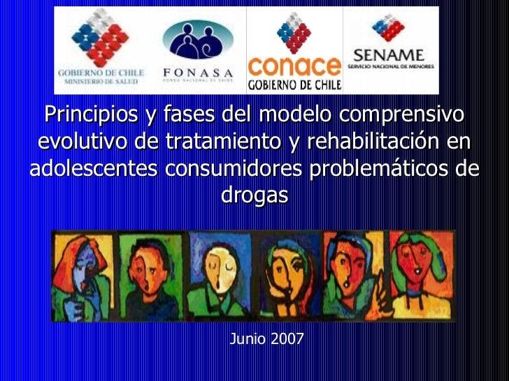 Principios y fases del modelo comprensivo evolutivo de tratamiento y rehabilitación en adolescentes consumidores problemát...