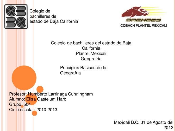 Colegio de         bachilleres del         estado de Baja California                    Colegio de bachilleres del estado ...
