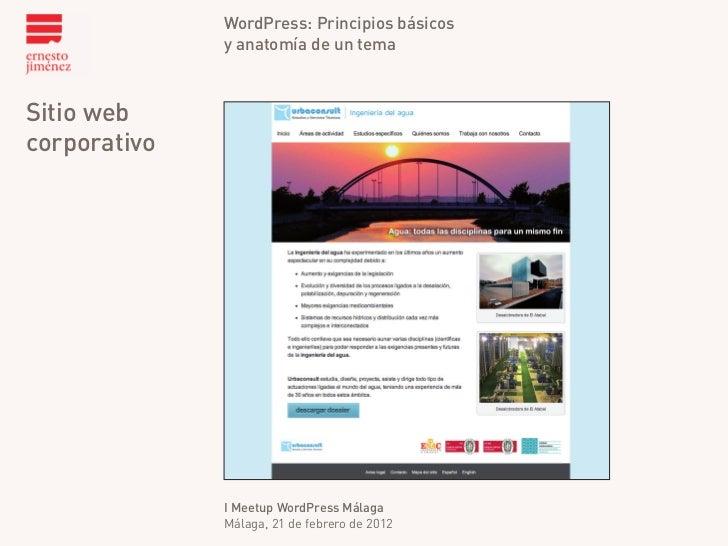 Principios básicos de WordPress y la anatomía de un theme