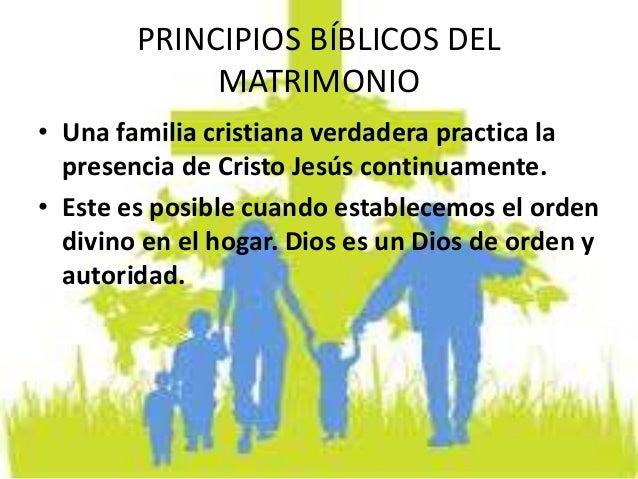 Matrimonio Y Familia En El Proyecto De Dios : Principios bíblicos del matrimonio