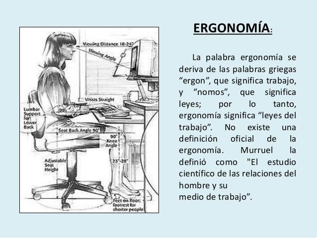 Principios b sicos de la ergonom a for Para que sirve la ergonomia