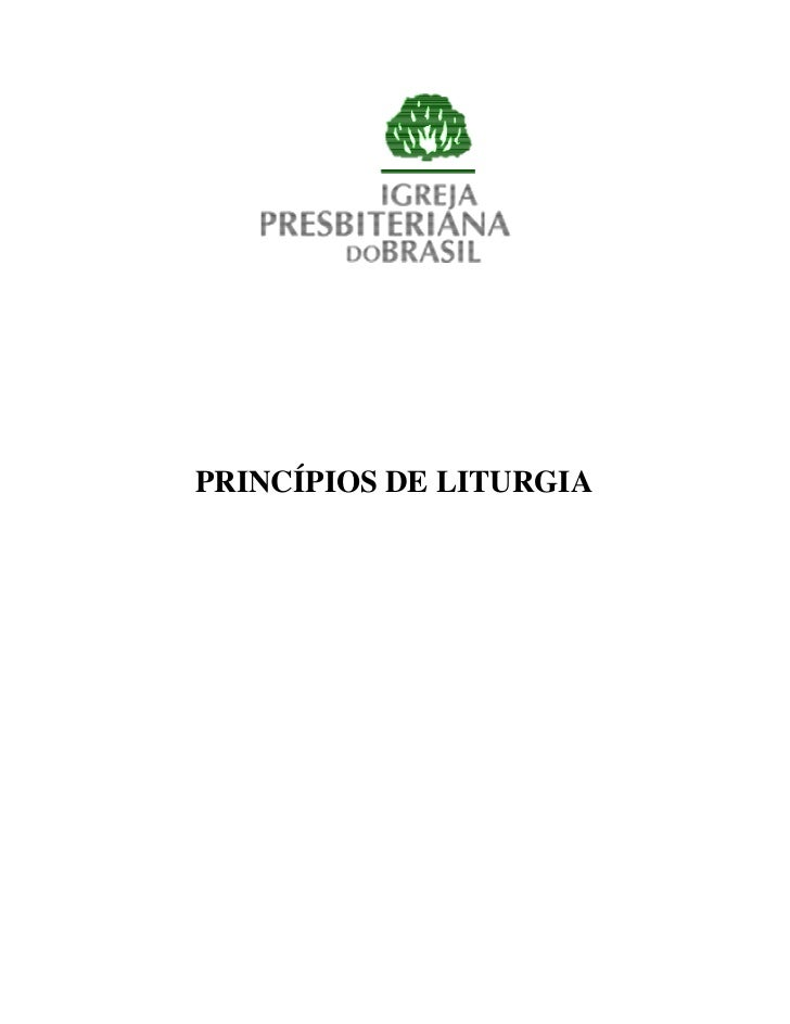 PRINCÍPIOS DE LITURGIA