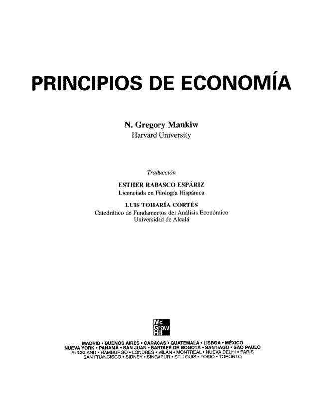 Principios de Economia - G. Mankiw