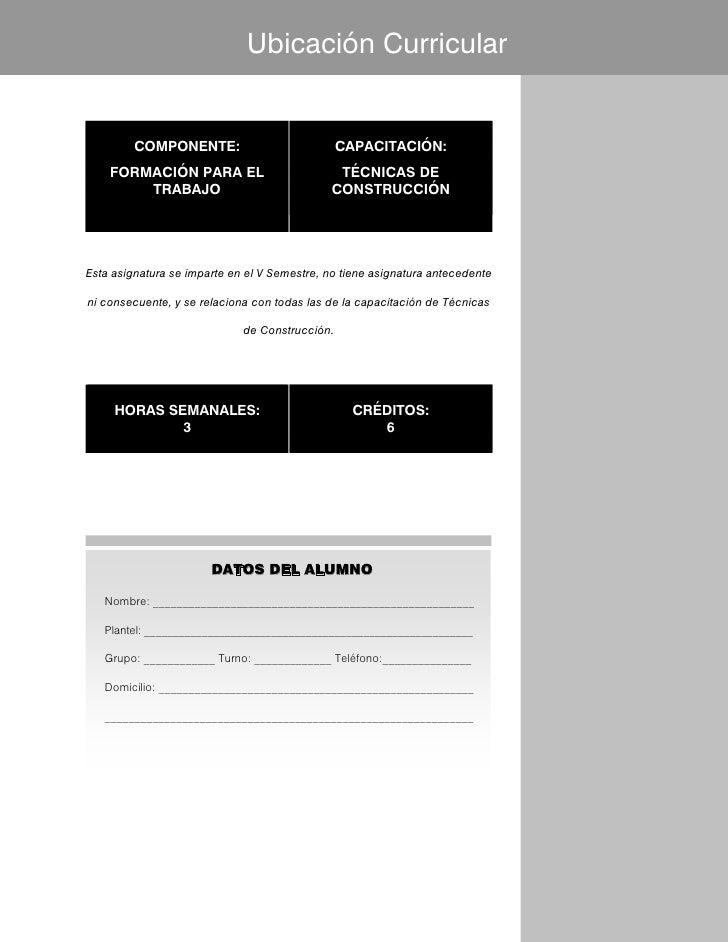 Ubicación Curricular         COMPONENTE:                            CAPACITACIÓN:    FORMACIÓN PARA EL                    ...