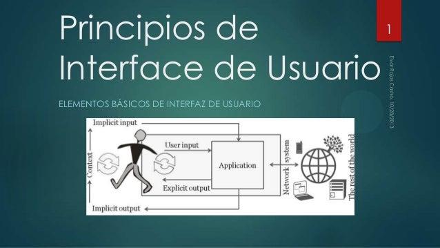 Principios de Interface de Usuario ELEMENTOS BÁSICOS DE INTERFAZ DE USUARIO  1