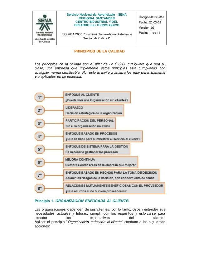 """Servicio Nacional de Aprendizaje – SENA REGIONAL SANTANDER CENTRO INDUSTRIAL Y DEL DESARROLLO TECNOLOGICO ISO 9001:2008 """"F..."""