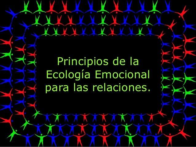 Principios de la Ecología Emocional para las relaciones.