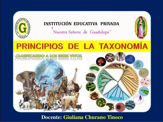 Docente: Giuliana Churano Tinoco INSTITUCIÓN EDUCATIVA PRIVADA 'Nuestra Señora de Guadalupe''