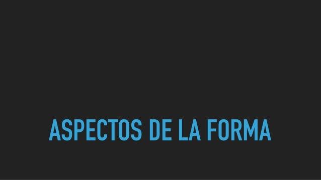 ASPECTOS DE LA FORMA