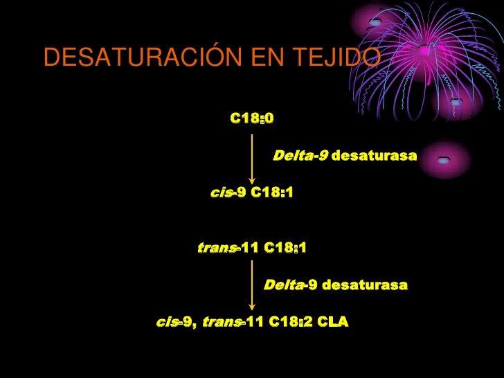 DESATURACIÓN EN TEJIDO                  C18:0                        Delta-9 desaturasa                cis-9 C18:1        ...