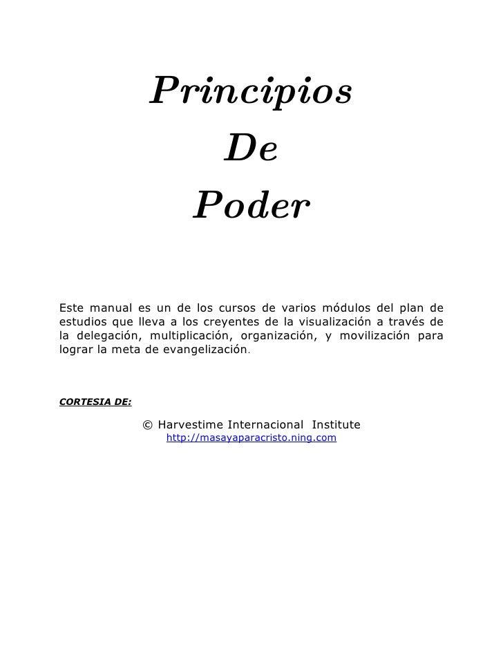 Principios                   De                  Poder  Este manual es un de los cursos de varios módulos del plan de estu...