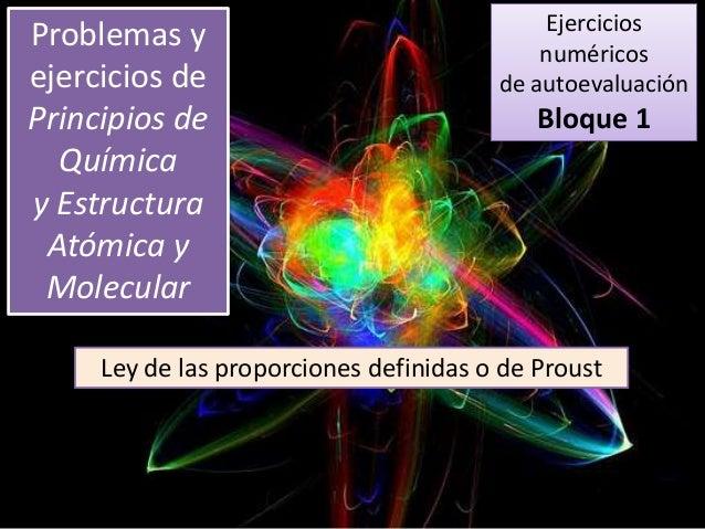 Principios De Quimica Y Estructura Ena1 Ejercicio 13 Ley