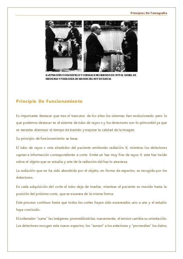 Principios De Tomografía Principio De Funcionamiento Es importante destacar que tras el trascurso de los años los sistemas...