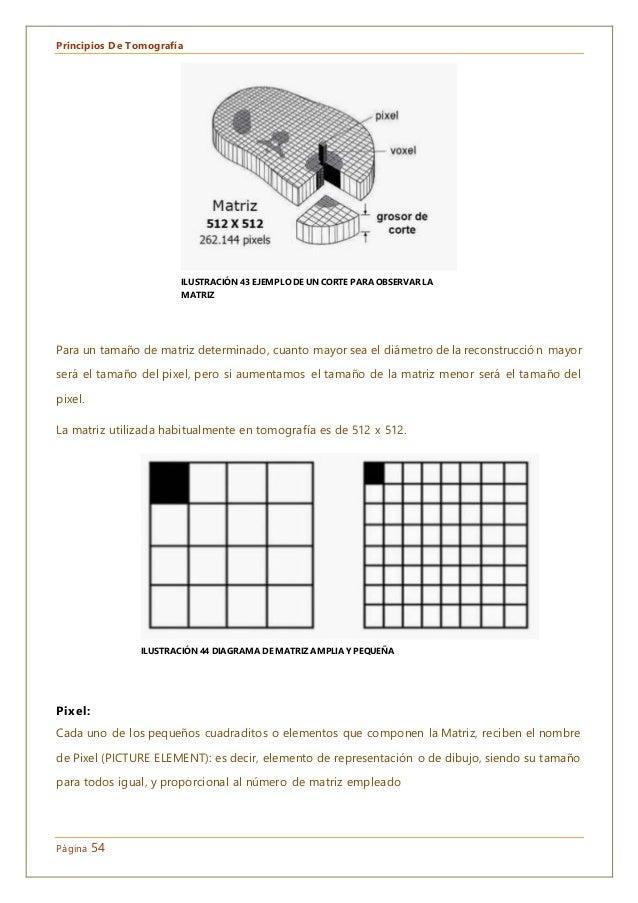 Principios De Tomografía Página 54 Para un tamaño de matriz determinado, cuanto mayor sea el diámetro de la reconstrucción...