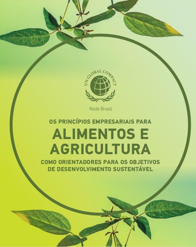 os Princípios Empresariais para Alimentos e Agricultura como orientadores para os Objetivos de Desenvolvimento Sustentável
