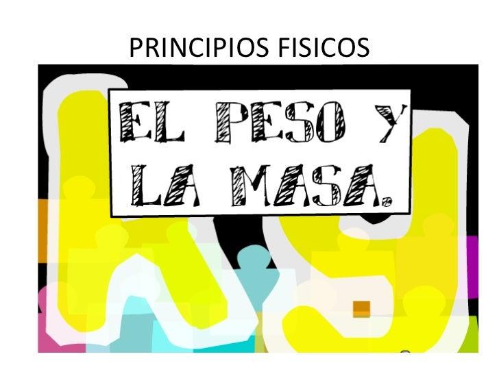 PRINCIPIOS FISICOS