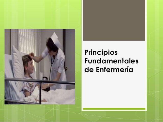 Principios fundamentales de enfermería