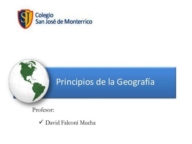 Principios de la Geografía